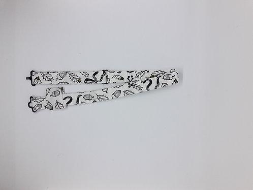 Tour de cou en coton pour nœud papillon en bois ou en plexiglass – Noël