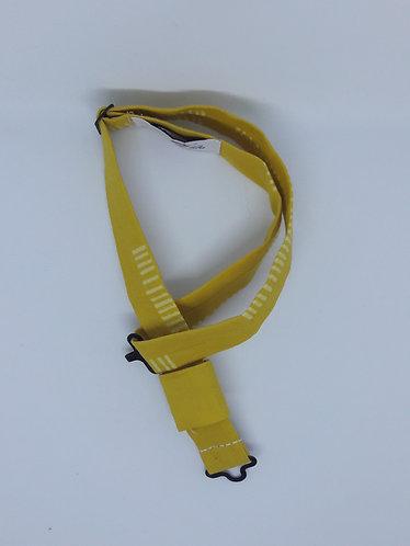 Tour de cou en coton pour nœud papillon en bois ou en plexiglass - Ocre