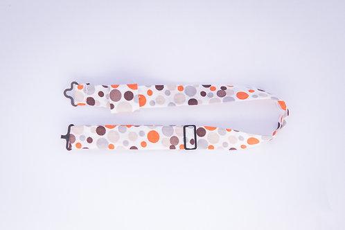 Tour de cou en coton pour nœud papillon en bois ou en plexiglass – Pois