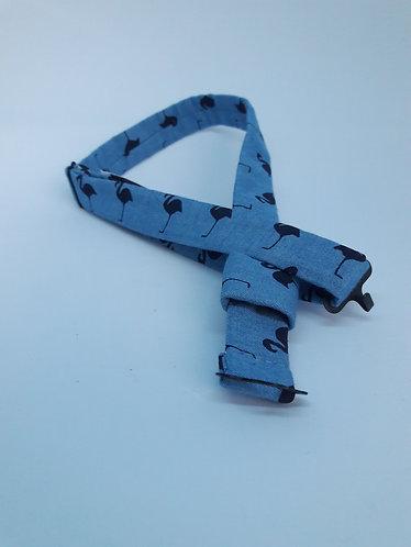 Tour de cou en coton pour nœud papillon en bois ou en plexiglass - Bird