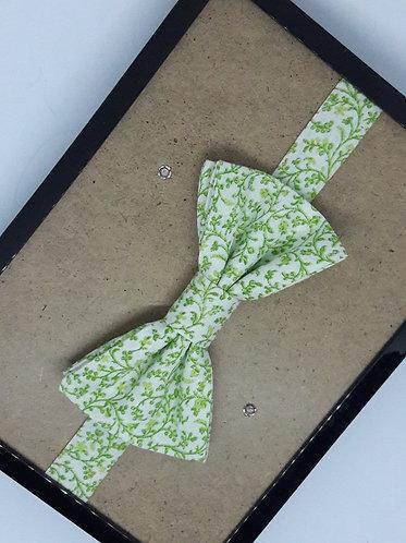 Noeud papillon enfant en tissu - Fleuris