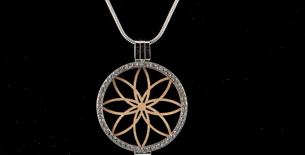 Fassung Coin mit Holzeinlage flor