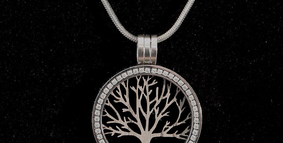 Fassung Coin mit Holzeinlage árbol de la vida