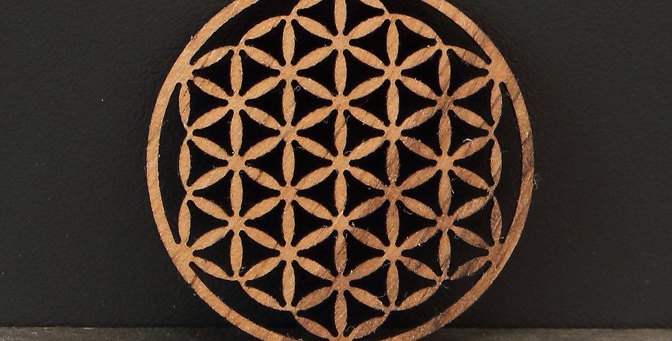 Coin Holzeinlage flor de la vida