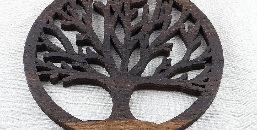 Holzuntersetzer árbol de la vida