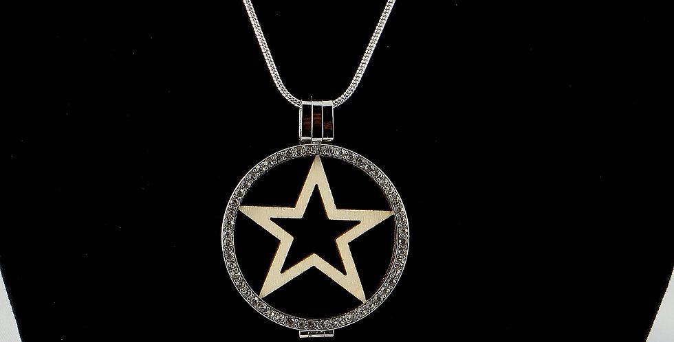 Fassung Coin mit Holzeinlage estrella