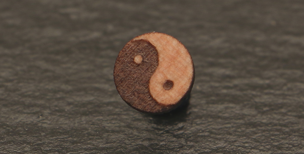 Ohrstecker ying yang