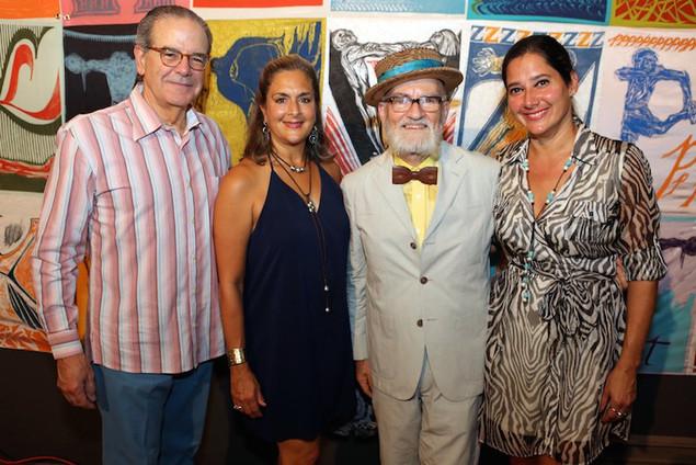 Mr. Ignacio Cortés, Elaine Shehab, Adelisa González-Lugo with Antonio Martorell