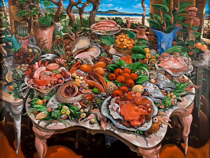 Interior en Playa Popa, 2000.