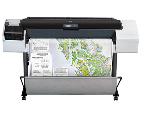 "HP DesignJet T1200 44"" 2-Roll Printer w/Stand"
