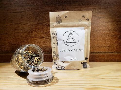 Springmint Loose Leaf Tea Blend and Compre