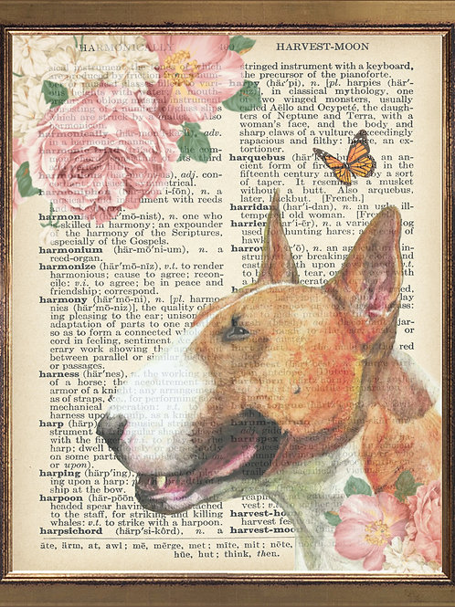Bullterrier Vintage Print