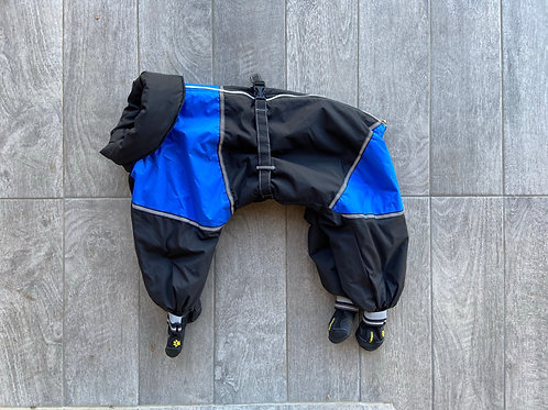"SNOWSUIT + BOOTS (back length 17-18"")"