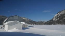 Vue du studio l'hiver