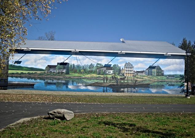 Fort Kent Ferry Crossing Mural