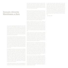 Monólogos a Dois   Gonçalo Almeida