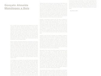 Monólogos a Dois | Gonçalo Almeida