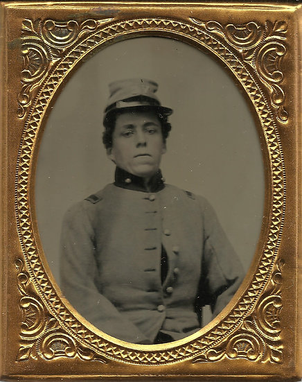 Confederate 1/9th Plate Tintype