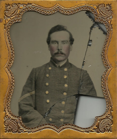 1/6th Plate Confederate Sergeant Ambrotype