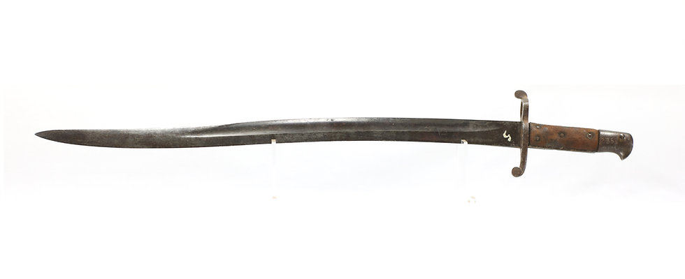 """Confederate Numbered P1856 no. 2 """"Bar-on-Band"""" Rifle Saber Bayonet with Unit ID"""