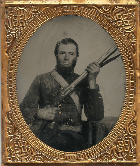 Double Armed Confederate with Flintlock Brown Bess