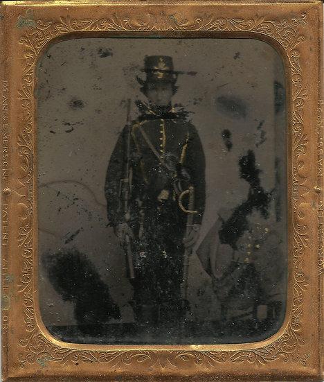 "2nd Missouri Cavalry ""Merrill's Horse"" 1/6th Plate Tintype"