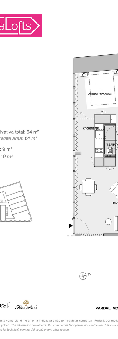 Alcântara Lofts floor plans