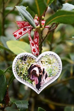 Wooden Hanging Heart £2.50