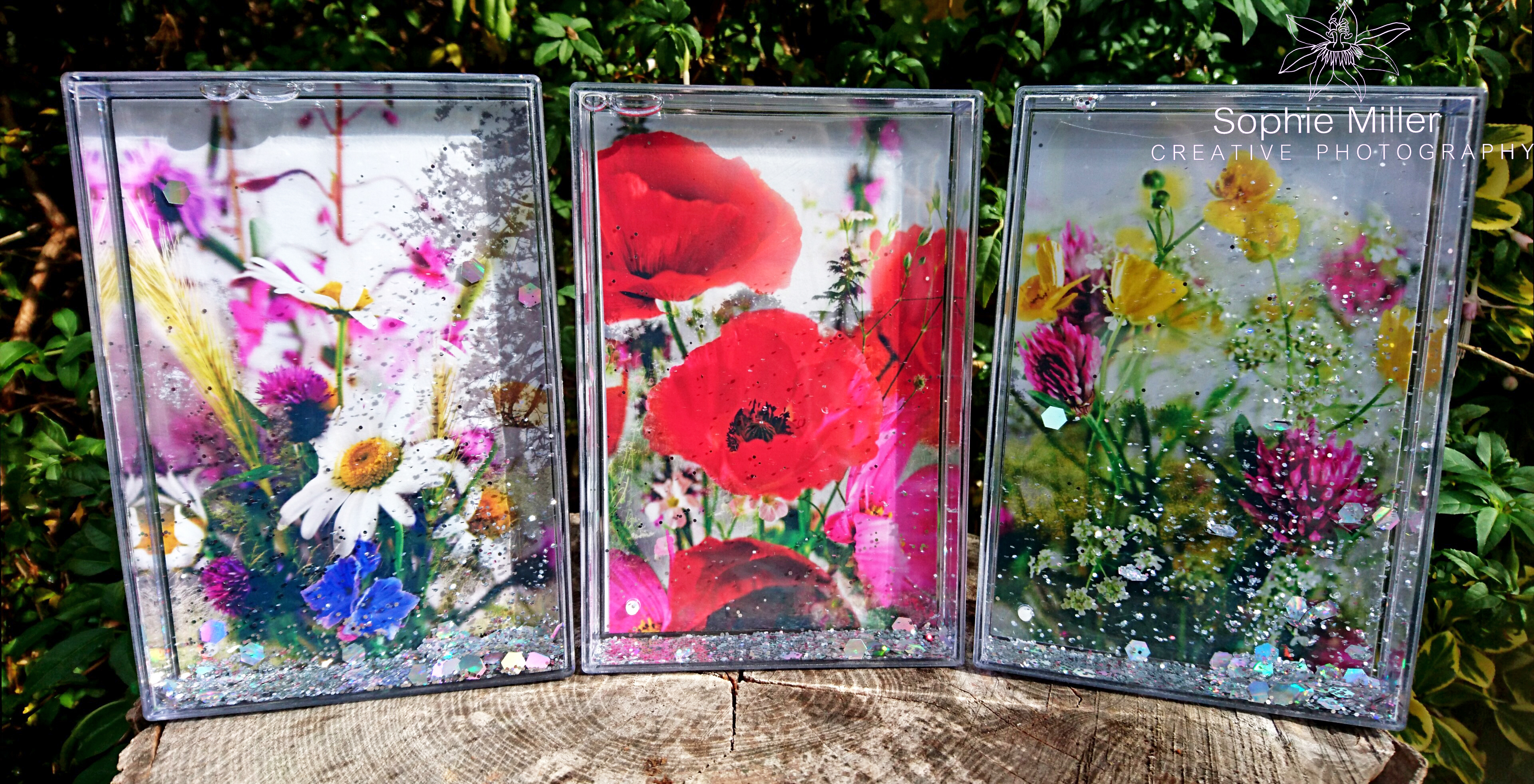 Glitter Water Flower Frames £15