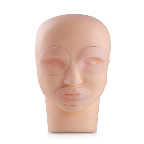 MANNEQUIN HEAD WITH REMOVABLE EYES AND MOUTH PIECES