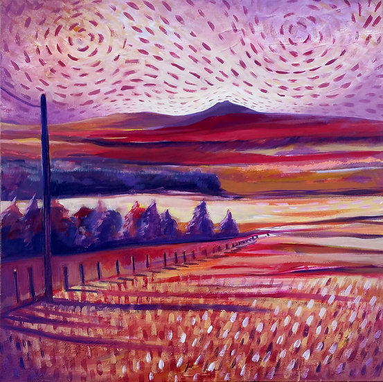 "Limited Edition Giclee Print of ""Evening Light - Bennachie"""