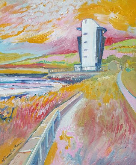 Harbour Tower, Aberdeen - Framed Open Edition Print