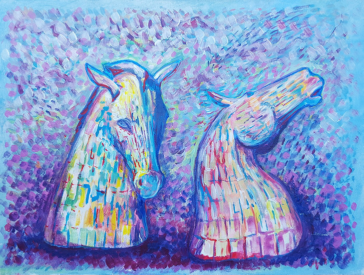 The Kelpies - Framed Open Edition Print
