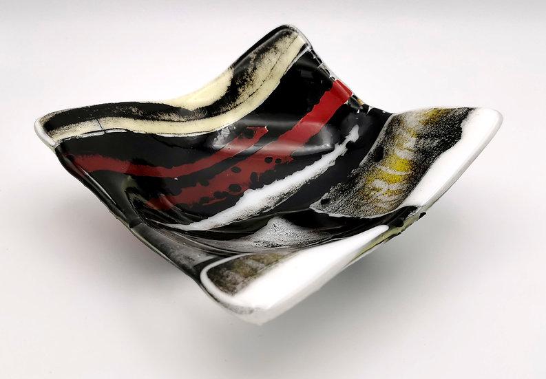 Red/Black/White Landscape Bowl