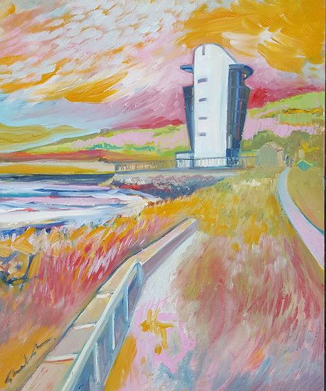 Ltd Edition Giclee Print of Harbour Tower, Fittie