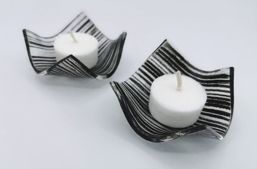 """Tightlines"" Candle Holders"