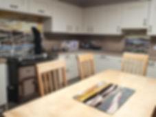 Bespoke Fused Glass Kitchen Splashback