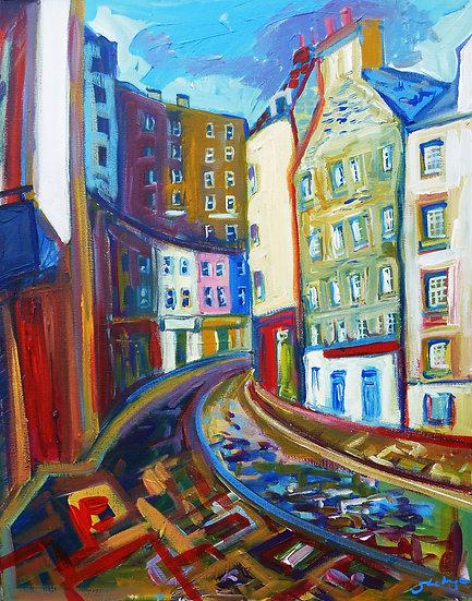 Victoria Street, Edinburgh - Framed Open Edition Print