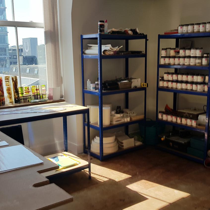 Dedicated Glass Studio Space