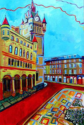 """Framed Open Edition Print """"Town House, Aberdeen"""""""
