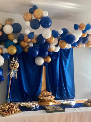 Royal blue baby shower fit for a Prince!