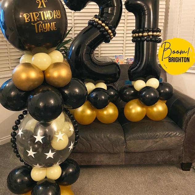 Black & Gold 21st Set