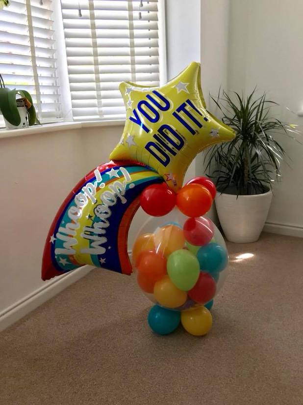Exam celebration Chocolate filled balloon
