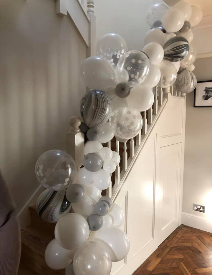 Stair Garlands really make a statement!