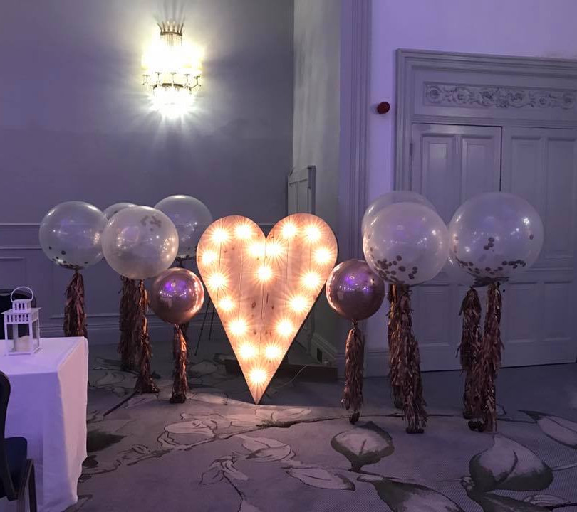 oversized wedding balloons with tassels