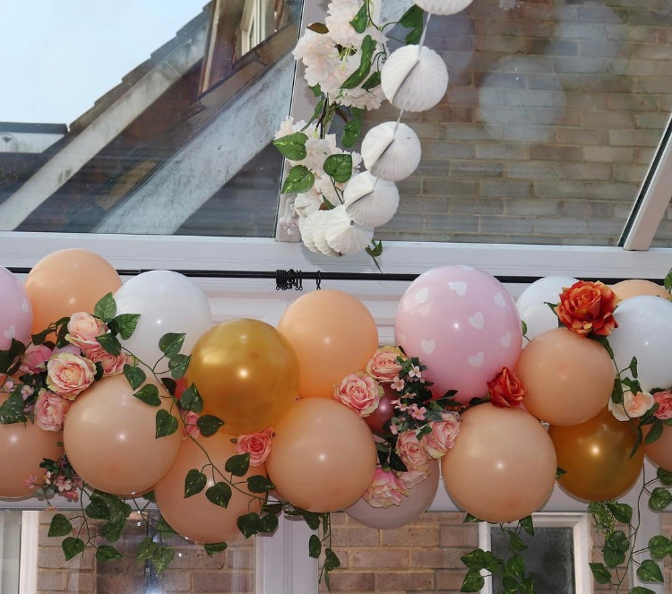 vintage flower fairy garland adorned with silk flowers and folliage!