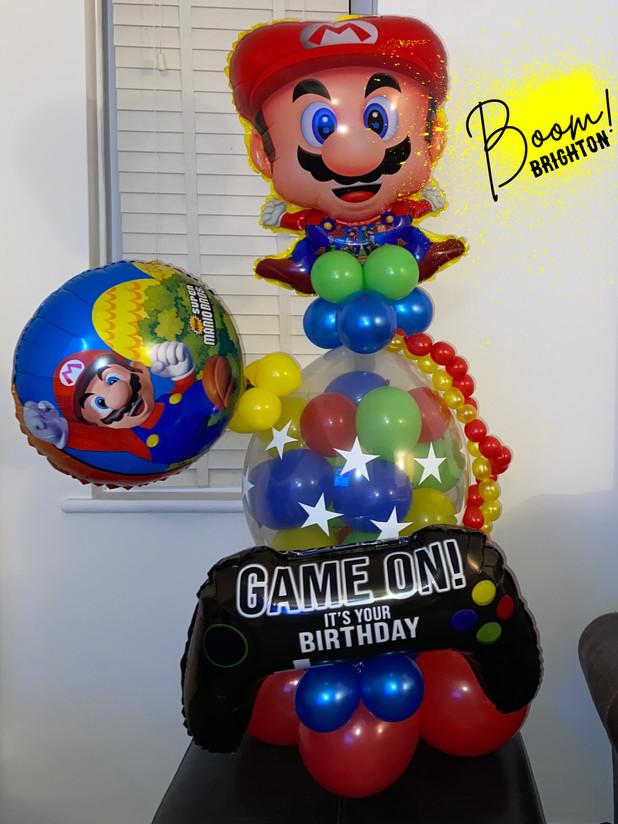 Mario Gamer chocolate filled balloon