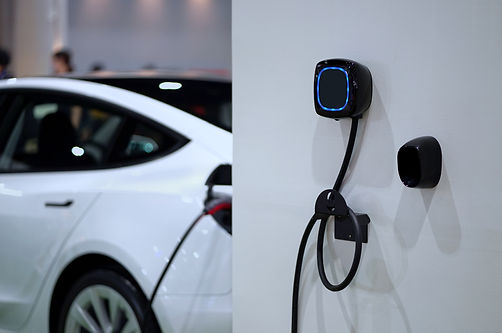 Wall mounted electric charger in the home garage..jpg