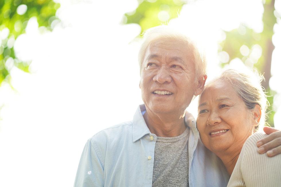 portrait of loving senior asian couple e