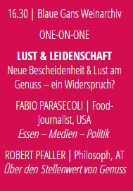 """Robert Pfaller at Culinary Art Salzburg - """"Über den Stellenwert von Genuss"""""""